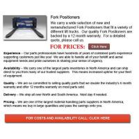 Buy cheap Fork Positioner for Forklifts from wholesalers