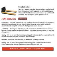 Buy cheap Forklift Fork Extension from wholesalers