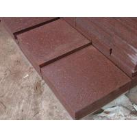 Red granite paver tile