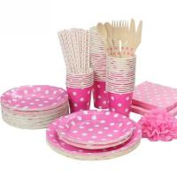 Disposable Plates Set Tableware Discount Items Supplies for Birthday Party