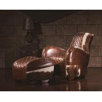 Buy cheap Uncorrected Aniline Leather Retro Style Vintage Leisure Chair from wholesalers