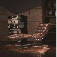 Buy cheap Simple Modern Biker Leather Tan Color Home Recliner Lazy Leisure Chair from wholesalers