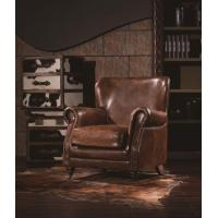 Buy cheap Antique Leather Can Be OEM Vintage Leather Armchair from wholesalers