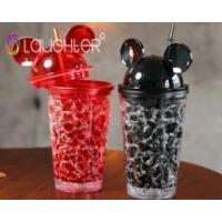 Buy cheap Colorful trash ice effect Kids Platic Cup With Lid sucker from wholesalers
