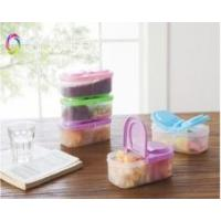 Buy cheap interlayer LFGB plastic flip-open retain freshness food container box from wholesalers