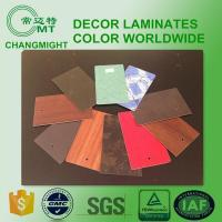 Buy cheap Interior wood grain laminate sheet for furniture/Fire retardant hpl plywood from wholesalers