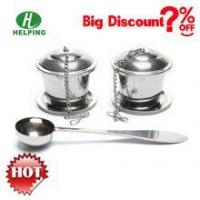 China Popular gift tea infuser set infuser with coffee spoon wholesale