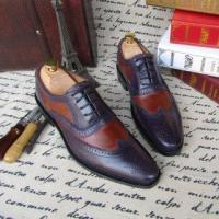 China SKP02- New Men's Oxford Shoes Color Purple Small / Big Size on sale