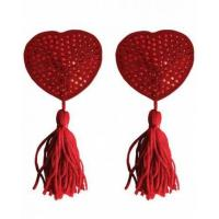 Buy cheap Shots Ouch Heart Nipple Tassels Red CNVELD-SHTOU029RED from wholesalers