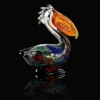 China Glass Pelican Figurine on sale