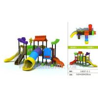 CE Approved Kindergarten Kids Playground With Four Slides 23 Years' Manufacture Experiences
