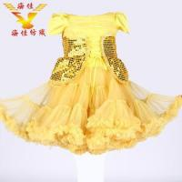 China Hot sale gold sequin printed elegant baby girl wedding dress for wedding party on sale