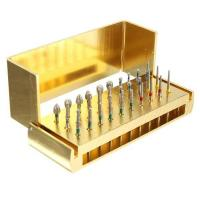 Buy cheap Dental Diamond Burs Drill + Disinfection Bur Block High Speed Handpieces 30pcs product