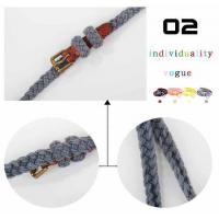 China Durable fashion suspenders Braided belts BS-137 on sale
