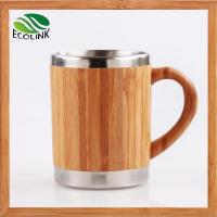 Insulated Bamboo Coffee Tea Mug With Stainless Steel Inner