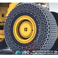 20.5-25 tyre protection chains on a CAT working at a limestone quarry