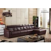 China Ekar Furniture Living Room European Modern Style Brown Genuine Leather Couch Sofa sets on sale