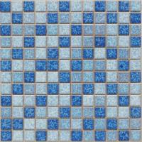 Buy cheap Glossy Mix Color Glazed Ceramic Bathroom and Swimming Pool Mosaic Tile with Different Design from wholesalers