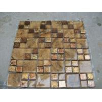 Buy cheap Mosaic Crystal Mixed Resin Decorative Material Glass Mosaic Tiles from wholesalers