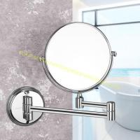 China 8 Inches Round Cosmetic Mirror Bathroom Wall Mounted Magnifying Makeup Mirror on sale