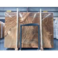 Buy cheap Yellow Wooden Marble Slabs product