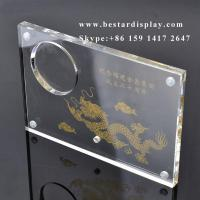 China Custom design Plexiglass PMMA acrylic coin holder with magnets on sale