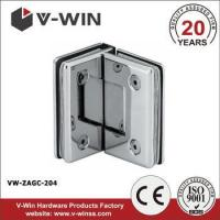 Buy cheap standard 90 degree double glass clamp for frameless shower door from wholesalers