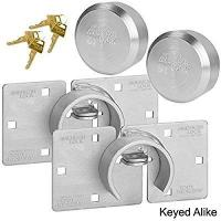American / Master Lock (2) Hidden Shackle and Hasp Combo A801 - A2010KA-2