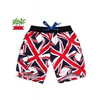 Buy cheap SWEATERS England Flag Print Cotton Beach Pants for Men from wholesalers
