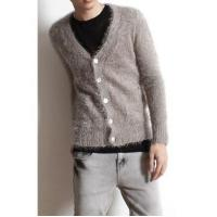 Buy cheap Men's Fashion V-neck Single Breasted Fluffy Cardigan from wholesalers