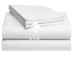 Quality OEM 5 Star Hotel Used Egyptian Cotton Plain Bed Sheet For Hotel, Bed Sheet 100% Cotton Fabric for sale