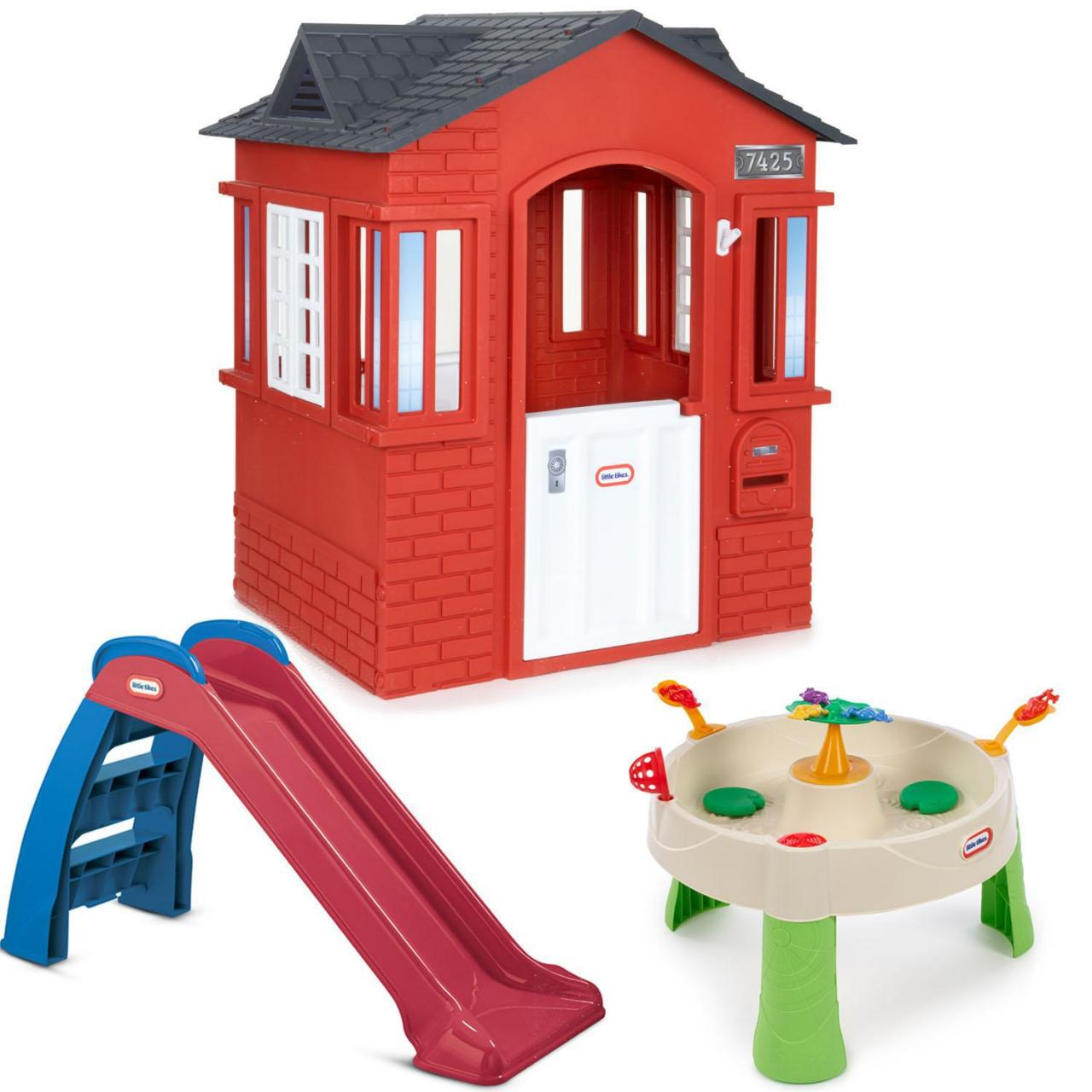 Playhouses Cape Cottage Red Backyard Bundle
