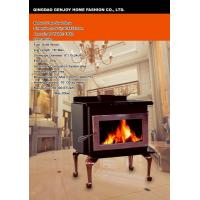 Plate Steel Stove model S with cast iron legs and square door