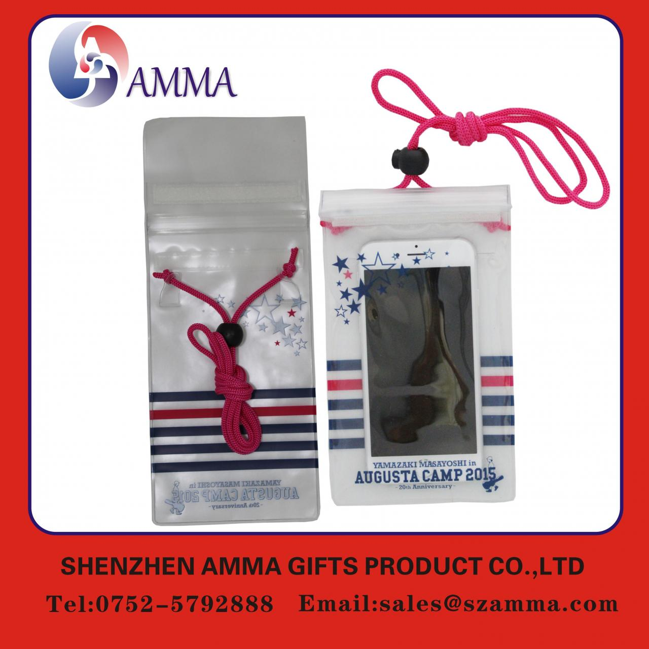 New design hot sale PVC waterproof phone pouch