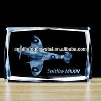 Buy cheap 3D Laser Promotion 3d laser crystal block for airplane design from wholesalers