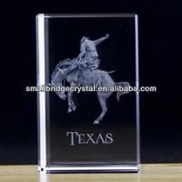Buy cheap 3D Laser 3d laser crystal block for business gift TEXAS from wholesalers