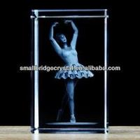Buy cheap 3D Laser newest Crystal souvenir with 3d laser engraved ballet dancing from wholesalers