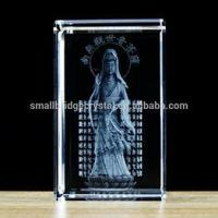 Buy cheap 3D Laser 3D laser crystal cube China style Fengshui budda Guanyin from wholesalers