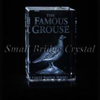 Buy cheap 3D Laser Crystal crafts with 3d laser engraving famous grouse birds from wholesalers