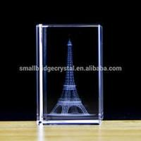Buy cheap 3D Laser Tourism France Pairs 3D Laser Engraved Crystal Eiffel Tower Souvenirs from wholesalers