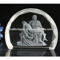 Buy cheap 3D Laser 3D Laser engraved Pieta crystal religious gifts from wholesalers