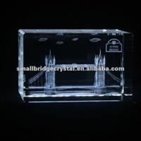 Buy cheap 3D Laser Wholesale Crystal cube with 3d laser London tower bridge in UK from wholesalers