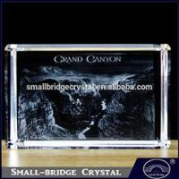 Buy cheap 3D Laser Nicely Etched Scenery Crafts 3d Laser Crystal Cube from wholesalers