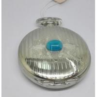 Stainless Steel Style Classical Silver Pocket Watches For Men Quartz With Pendant Chain Fashion