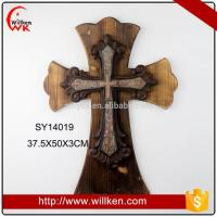 Buy cheap Animal Statues Wooden crucifix decorating with crosses on wall wood craft product