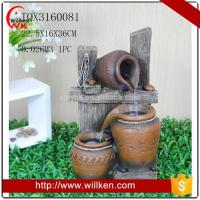 Buy cheap Animal Statues Indoor tabletop polyresin water fountain with light product