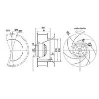 Buy cheap Constant AirFlow Technology B225-89 Backward Centrifugal Fan from wholesalers