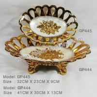 Buy cheap B:Gold plated and seashell item Resin Plate GP444GP445 product
