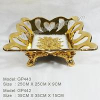 Buy cheap B:Gold plated and seashell item Classic Resin Craft Fruit Bowl GP443 product