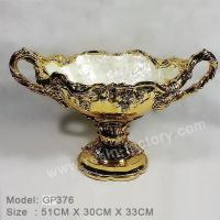 Buy cheap B:Gold plated and seashell item Golden Resin Container GP376 product